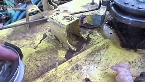 John Deere Lt160 Design Flaw  Crack On The Mowing Deck