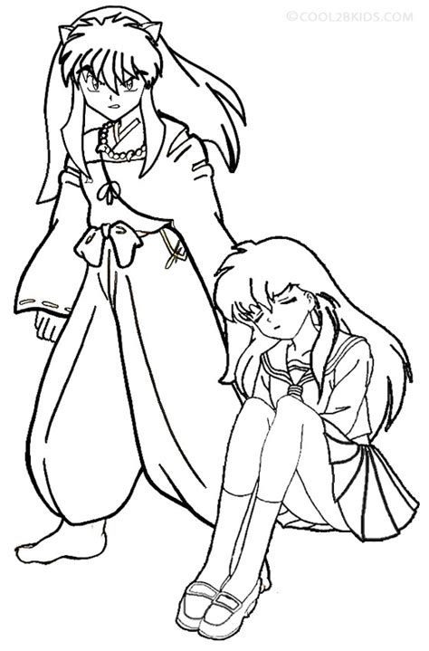 printable inuyasha coloring pages  kids coolbkids