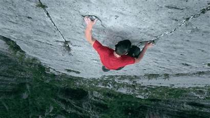 Climbing Cliff Rock Solo Gifs Rope Without