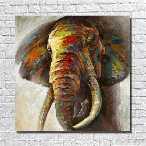 top quality handmade cartoon elephant oil painting