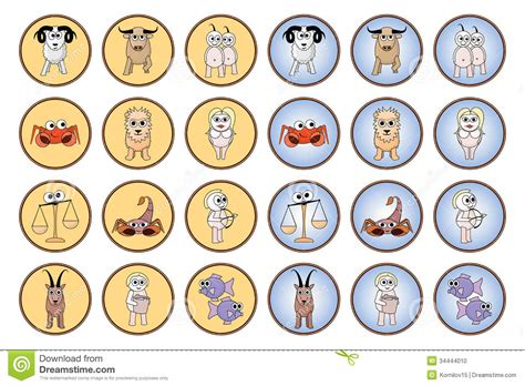 zodiac web buttons stock photo image