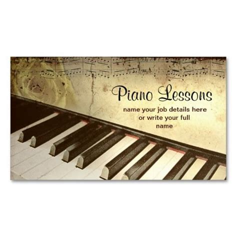 piano business card template 1000 images about themed business cards on
