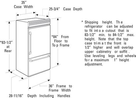 zicpnhrh monogram  professional built  bottom freezer refrigerator  monogram
