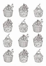 Coloring Cupcakes Cakes Cup Adults Cupcake Adult Coloriage Colorare Yum Many Disegni Cake Justcolor Celine Adulti Printable Coloriages Colorear Eat sketch template