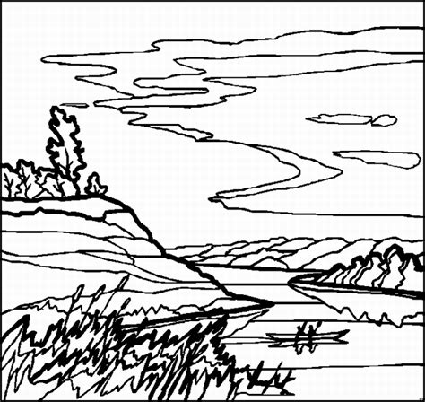 landscape coloring pages getcoloringpagescom