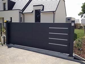 Portail En Aluminium : horizon portail aluminium sur mesure europortail ~ Melissatoandfro.com Idées de Décoration