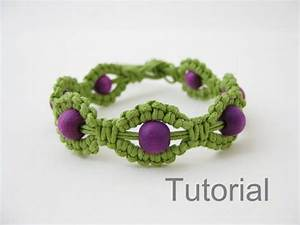Makramee Kette Anleitung : macrame bracelet instructions pattern pdf tutorial jewelry green and purple diy how to beginners ~ Orissabook.com Haus und Dekorationen