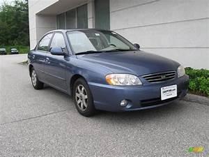 2003 Slate Blue Kia Spectra Ls Sedan  14434653