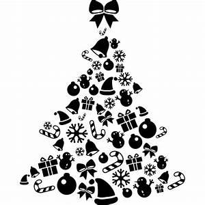 Dessin Sapin De Noel Moderne : stickers sapin de no l moderne cadeaux flocons n uds boules color stickers ~ Melissatoandfro.com Idées de Décoration