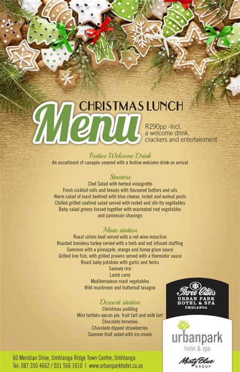christmas lunch buffet in umhlanga cosmopolitan restaurant