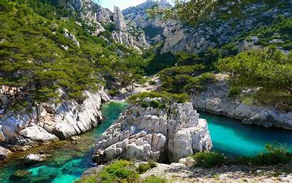 France Nature Landscape Mountain Water Coves Turquoise