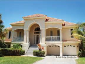 The Bedroom Mediterranean House Plans by Home Plan Homepw09082 2494 Square Foot 3 Bedroom 3