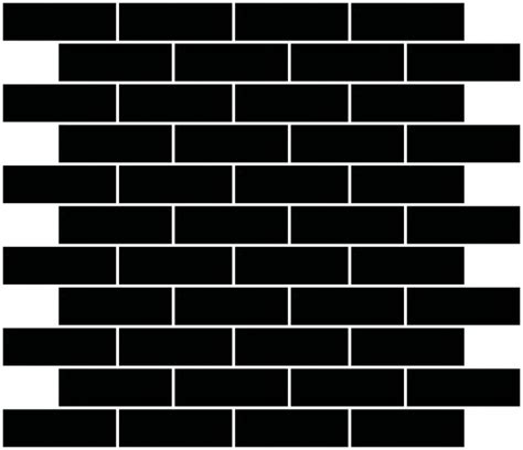 black mirror glass subway tile reset  running brick layout