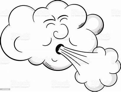 Wind Cartoon Cloud Blows Illustration Weather Cyclone