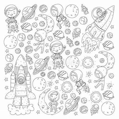 Coloring Planets Space Pages Stars Solar System