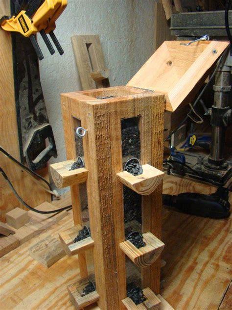 handmade rustic cypress wood bird feeder finch feeder
