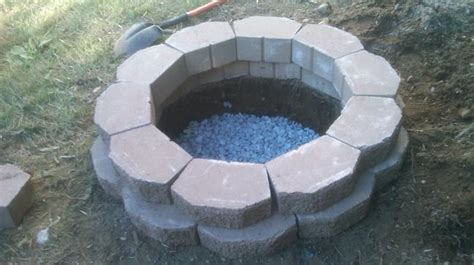 gas fireplace river rocks how to build a pit in your backyard bob vila