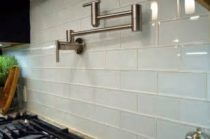 White Kitchen Backsplash Tile White Glass Subway Tile Kitchen Modern With Backsplash Bright Clean Contemporary