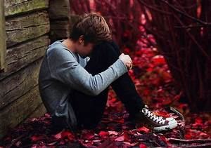 Sad boy alone cute crying broken heart
