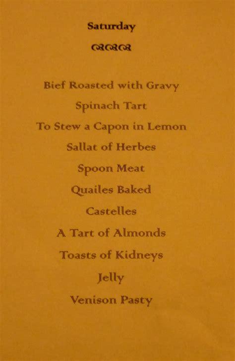 Tudor Menu Template Other Thoughts Tudor Dining At Haddon