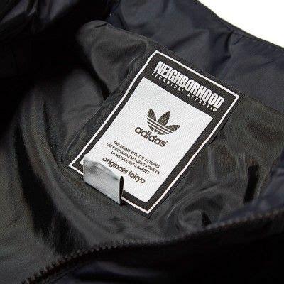 adidas  neighborhood windbreaker black clothing labels woven labels clothing tags