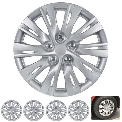 4 pc set 16 quot hub caps silver fits 2012 2013 toyota camry