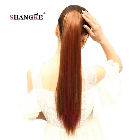 Shangke 24long Highlight Ponytail Claw Drawstring
