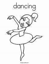 Coloring Dancing Dance Ballerina Pages Dancer Angelina Ballet Printable Sheets Twistynoodle Colouring Noodle Gator Florida Salsa Hop Hip Built California sketch template