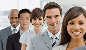 Closeup portrait of happy business group standing together ...