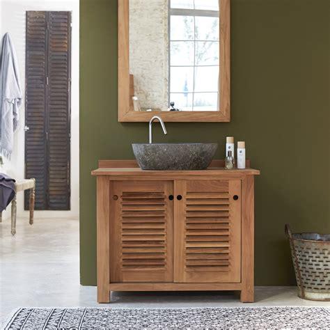 meuble cuisine teck impressionnant meuble de salle de bain teck pas cher et cuisine meuble sous vasque suspendu en