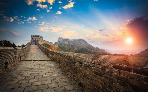 sunset large chinese wall desktop wallpaper hd  wallpaperscom