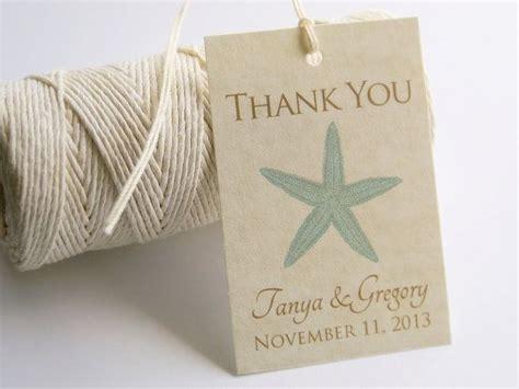 printable beach wedding favor tags diy vintage starfish
