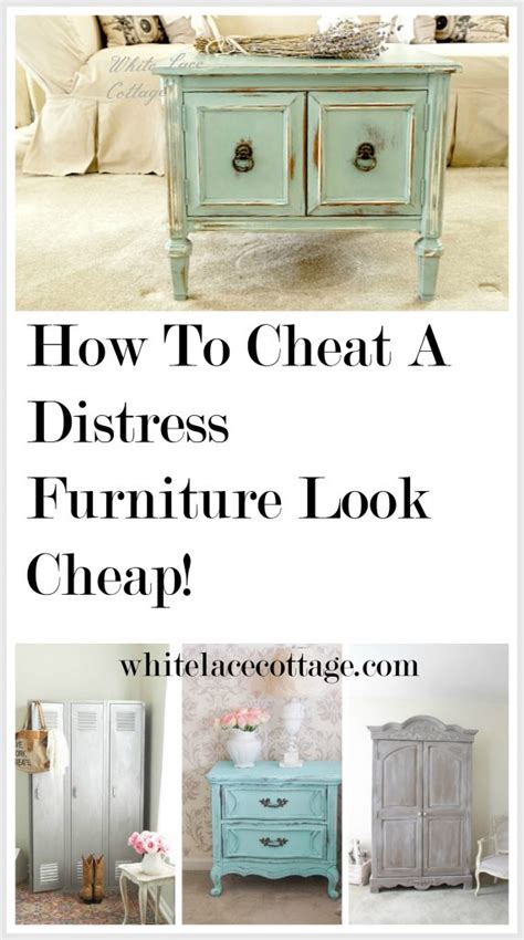 How To Cheat A Distress Furniture Look Cheap!  White Lace