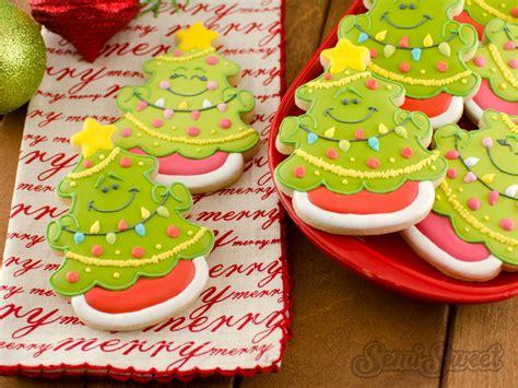 decorated christmas cookies trees psoriasisgurucom