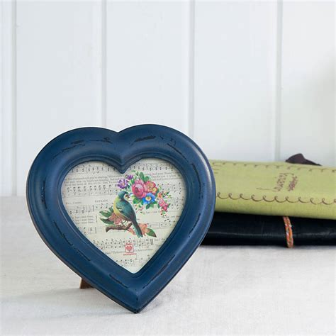 Distressed Heart Picture Frame By I Love Retro ...