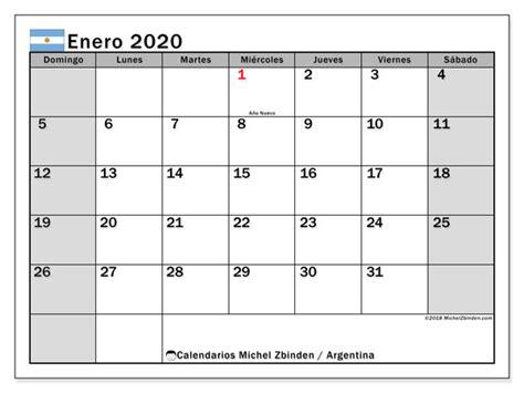 calendario enero argentina michel zbinden es