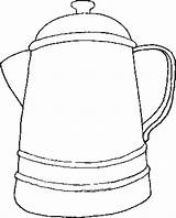 Coffee Coloring Pot Pages West Printable Cup Getcoloringpages Places sketch template