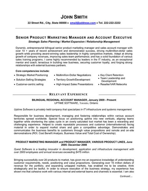 Product Management Resume Sles by Senior Product Manager Resume Template Premium Resume Sles Exle