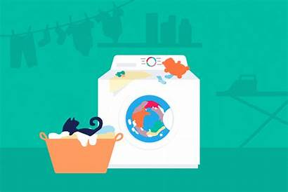 Washing Machine Clothes Machines Ramo Animation Clean