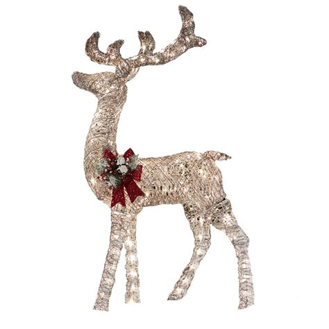 lowes lighted christmas decorations holiday living 52 in lighted vine reindeer outdoor