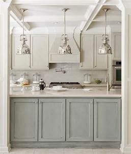 La cuisine grise plutot oui ou plutot non for Kitchen colors with white cabinets with rouleaux papier peint