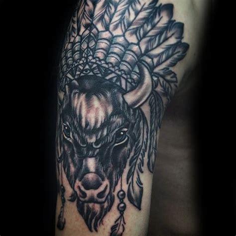 70 Bison Tattoo Designs For Men  Buffalo Ink Ideas