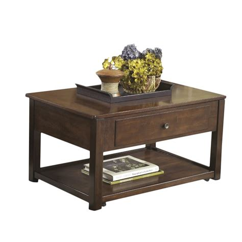 Ashley Marion Lift Top Coffee Table In Dark Brown T4779