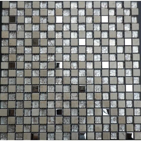 Stone Glass Mosaic Mirror Tile