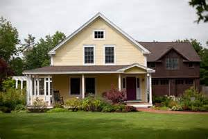 Barn House Plans With Porches by An Idyllic Post And Beam Farmhouse From Yankee Barn Homes