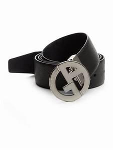 Giorgio armani Reversible Leather Logo-buckle Belt in ...