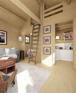 Gartenhaus Streichen Lasur : ein schlafboden im gartenhaus macht es zum idealen ~ Michelbontemps.com Haus und Dekorationen
