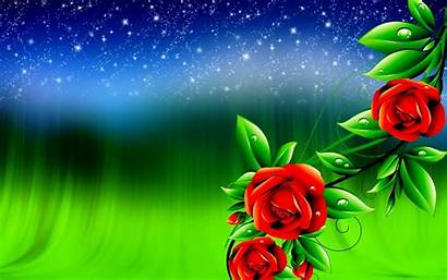 3d Wallpapers Digital Flowers Rose Background Pixelstalk