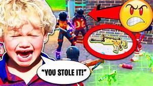 Troll STEALS Legendary Scar From Little Kid Fortnite