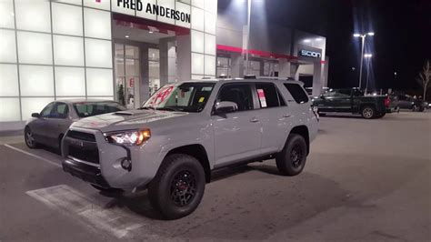 cement gray trd pro runner fred anderson toyota
